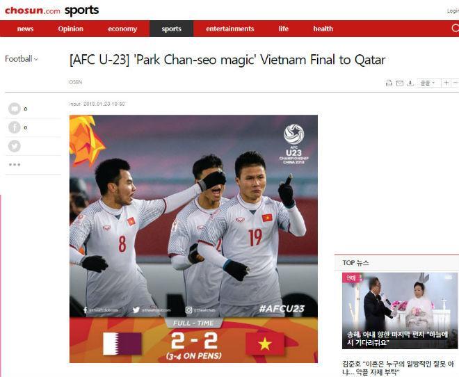 """U23 Việt Nam chấn động châu Á: Báo Hàn tự hào """"thầy phù thủy"""" Park Hang Seo - 6"""