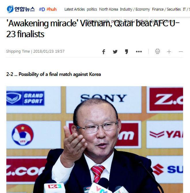 """U23 Việt Nam chấn động châu Á: Báo Hàn tự hào """"thầy phù thủy"""" Park Hang Seo - 4"""