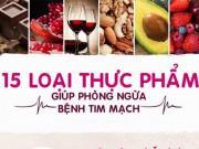 Sức khỏe đời sống - 15 thực phẩm giúp phòng ngừa bệnh tim mạch
