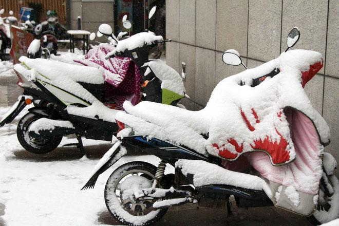 Ngắm tuyết rơi tuyệt đẹp ở Thường Châu trước trận chung kết U23 VN - U23 Uzbekistan - 2