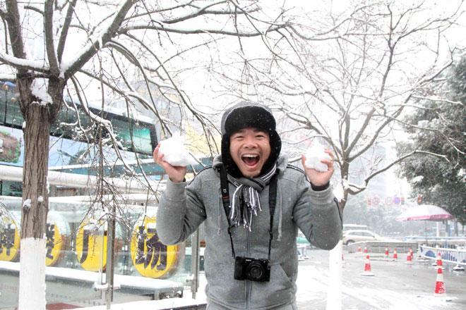 Ngắm tuyết rơi tuyệt đẹp ở Thường Châu trước trận chung kết U23 VN - U23 Uzbekistan - 8