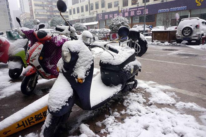 Ngắm tuyết rơi tuyệt đẹp ở Thường Châu trước trận chung kết U23 VN - U23 Uzbekistan - 13