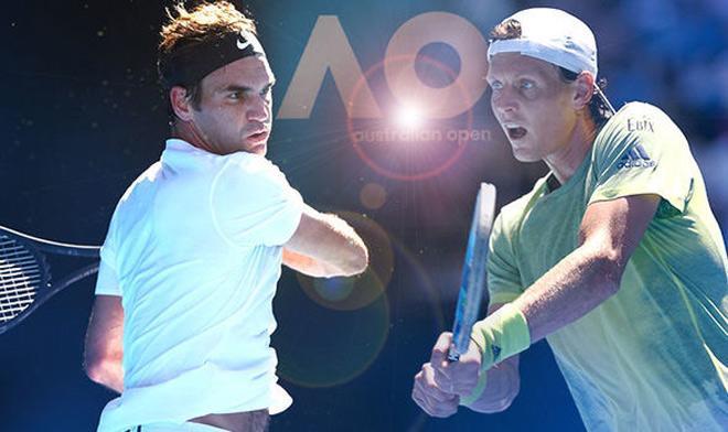 """Kiệt tác Australian Open: Federer ra vợt """"cong như chuối"""", Berdych ngao ngán 1"""