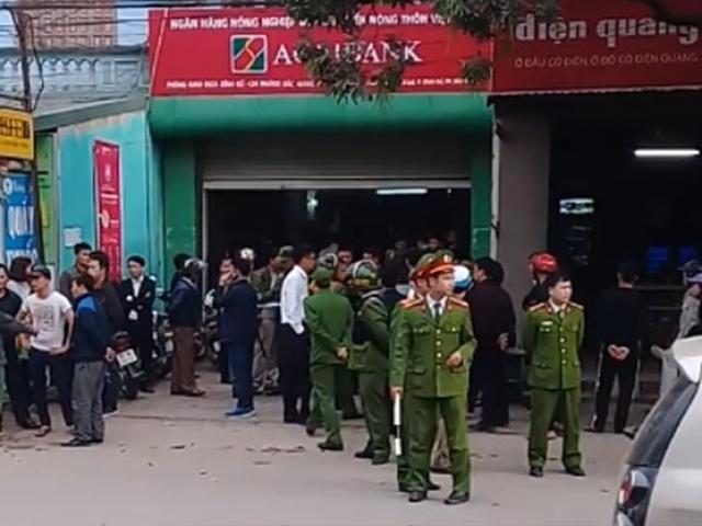 Nhận diện kẻ dùng súng cướp ngân hàng Agribank Bắc Giang
