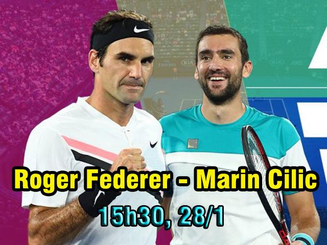 """Chi tiết Federer - Cilic: Cú trả giao bóng """"dâng cúp"""" (KT) 12"""