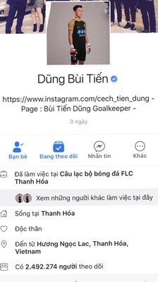 """Thủ môn Bùi Tiến Dũng gây """"sốc"""" mạng xã hội"""
