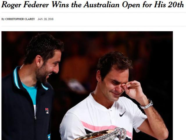 """Bảng xếp hạng tennis 29/1: Federer đoạt Australian Open, Nadal """"sống trong sợ hãi"""" 2"""