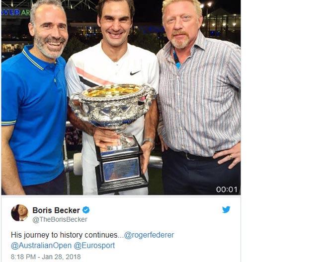 """Federer đoạt 20 Grand Slam: Vua 184 danh hiệu """"cúi đầu"""" nhường số 1 4"""