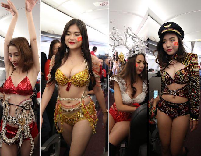 VFF nói gì về màn trình diễn bikini trên máy bay chở U23 Việt Nam?