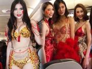 Thời trang - Giới người mẫu tiếp tục um xùm vì việc mặc phản cảm trên máy bay đón U23 VN