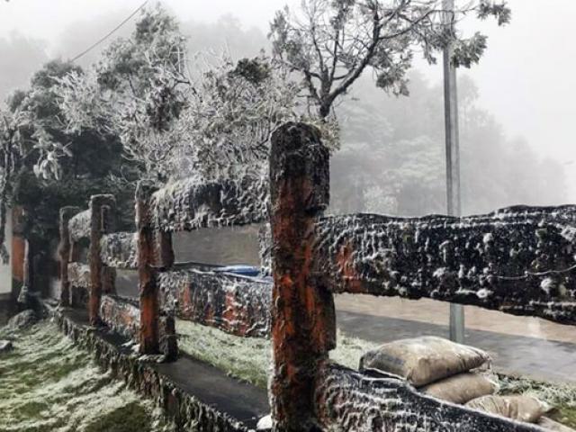 Clip: Mưa tuyết rơi phủ trắng núi rừng Sa Pa