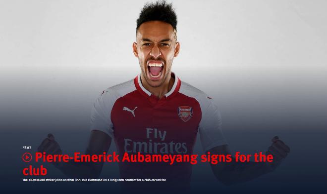 """Arsenal rung chuyển """"bom tấn"""": Aubameyang cập bến Emirates 64 triệu euro - 1"""