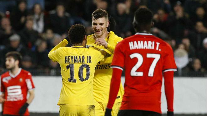 """Rennes - PSG: Neymar làm nền, """"kép phụ"""" rực rỡ"""