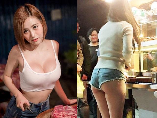 """Thời trang thiếu trước hụt sau của 3 cô """"hot girl bán thịt lợn"""" ở châu Á"""