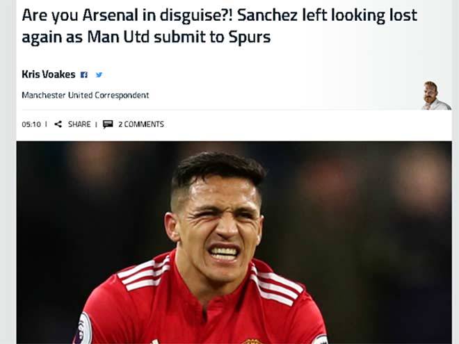 """MU thua, báo chí cười nhạo Mourinho, nghi Sanchez là """"gian tế"""" 3"""