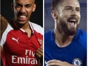 """Bóng đá - """"Người dơi"""" Aubameyang đến Arsenal: Mặc áo huyền thoại, Chelsea có Giroud"""
