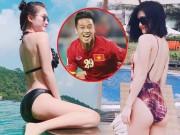Bạn trẻ - Cuộc sống - Bất ngờ về bạn gái đẹp như minh tinh của tiền vệ Huy Hùng