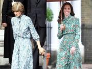Thời trang - Công nương Kate ngày càng mặc giống mẹ chồng Diana