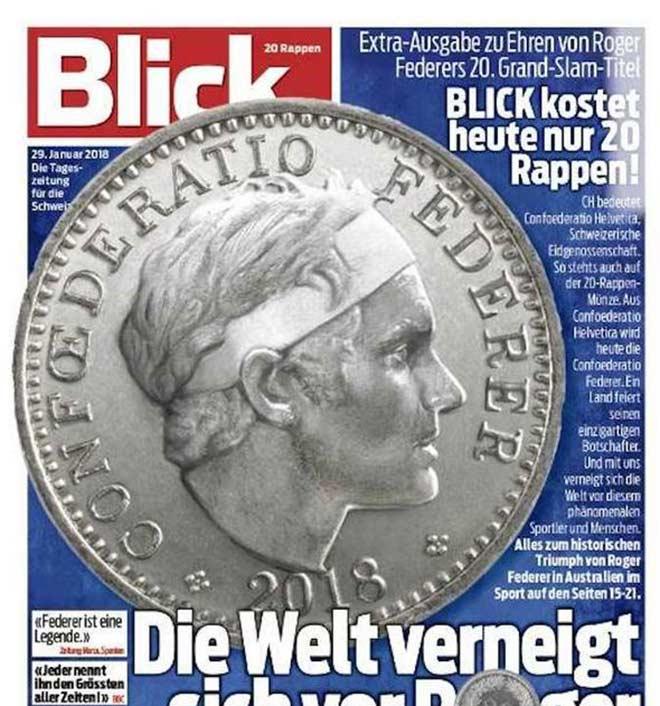 Tin thể thao HOT 2/2: Mặt Federer khắc trên đồng xu