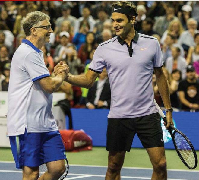 """Lập kỉ lục ấn tượng, Federer bắt tỷ phú mệt phờ râu, phải """"móc ví"""" 1"""