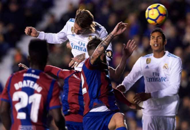 Levante - Real Madrid: Rượt đuổi 4 bàn, sai lầm phút 89