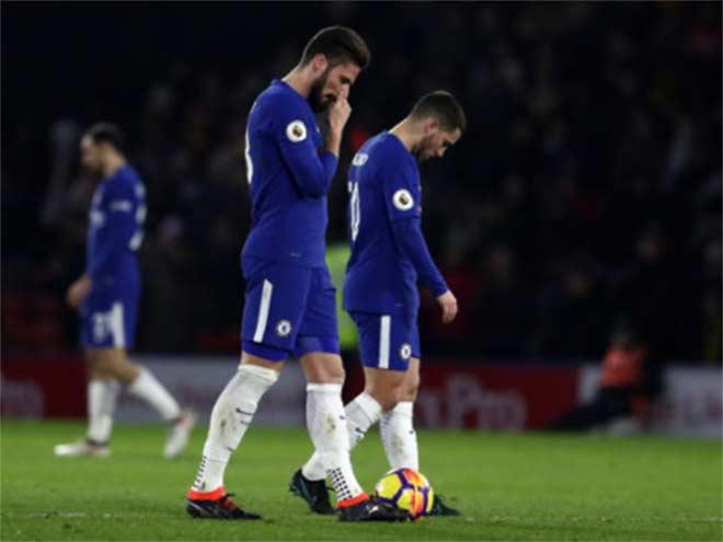 """Chelsea thua thảm: Quân tướng rệu rã, Real & PSG """"hút máu"""" hốt Hazard 1"""