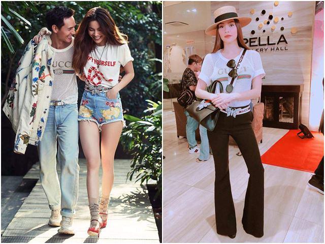 Hà Hồ - Kim Lý diện chung 1 chiếc áo khiến fan thích thú