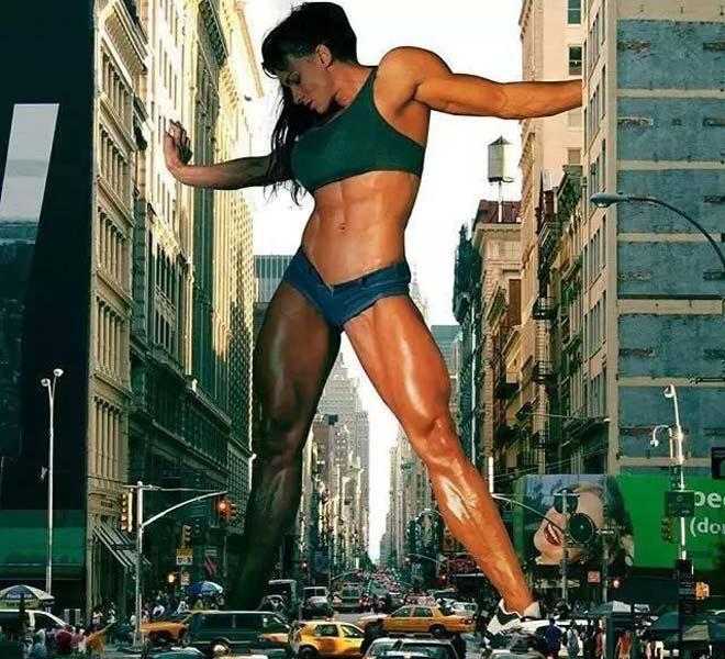 """Nữ """"king kong"""" 1m90: Cơ bắp cực khủng, nhấc bổng """"cả tá"""" đàn ông 2"""