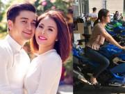 Đời sống Showbiz - Vân Trang mua môtô 150 triệu đồng tặng chồng nhân kỷ niệm 2 năm cưới