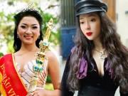 """Thời trang - Hoa hậu Nguyễn Thị Huyền: """"Cằm lẹm là di truyền nhà em nhé."""""""