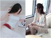 Thời trang - Nín thở với loạt váy áo ngủ trễ nải của em gái Angela Phương Trinh