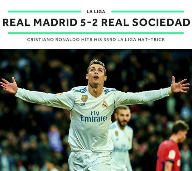 """Hoàng đế Ronaldo: Bùng nổ """"siêu hat-trick"""", La Liga quỳ rạp - 6"""