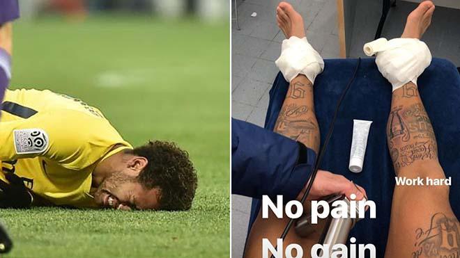 """Neymar chấn thương: """"Run sợ"""" trước Ronaldo, nguy cơ lỡ gặp Real ở C1 - 1"""