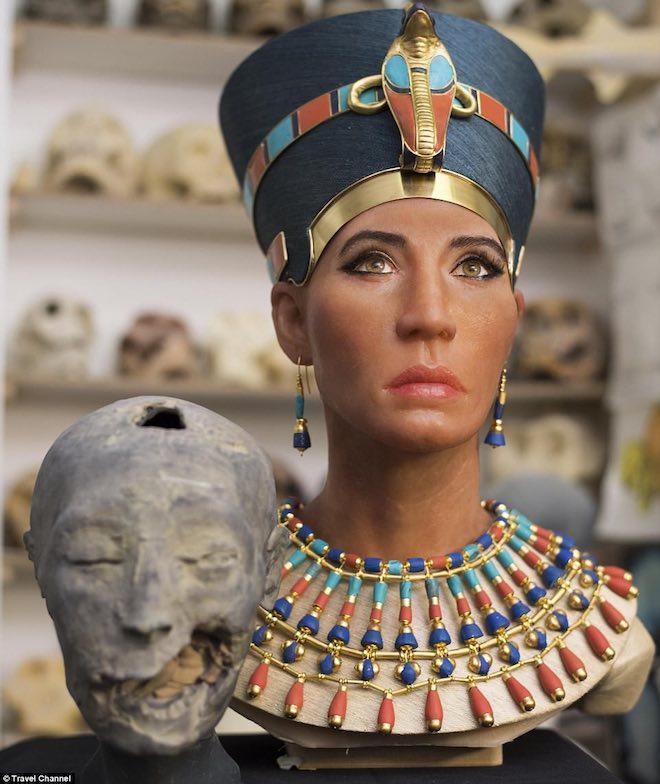 Công nghệ quét 3D tái hiện thành công gương mặt nữ hoàng Nefertiti - 1