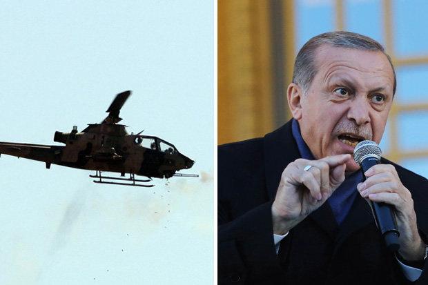 Trực thăng Thổ Nhĩ Kỳ lần đầu bị người Kurd bắn rơi ở Syria