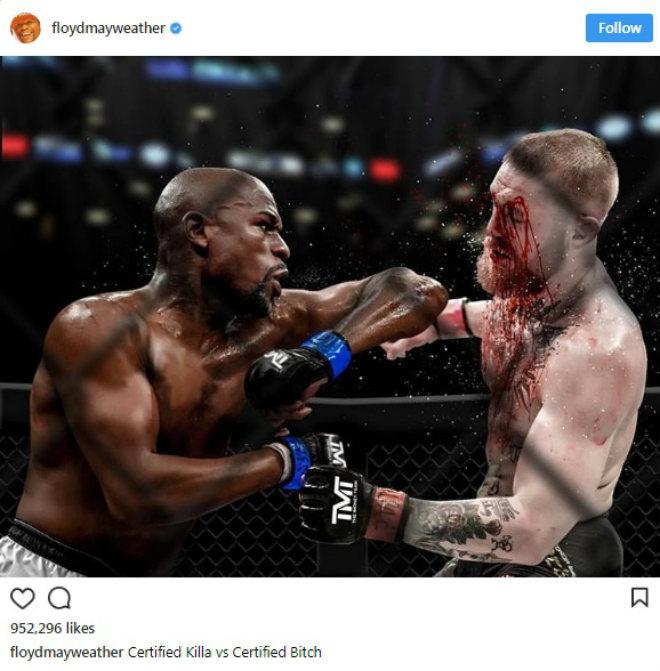 Mayweather đăng ảnh đẫm máu trong lồng UFC: Chửi rủa và dọa nạt McGregor 1