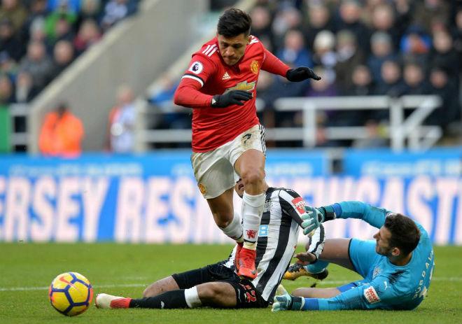 """MU - Sanchez """"chân gỗ"""" khó tin: Dứt điểm chục lần, hiệu quả bằng 0 - 5"""