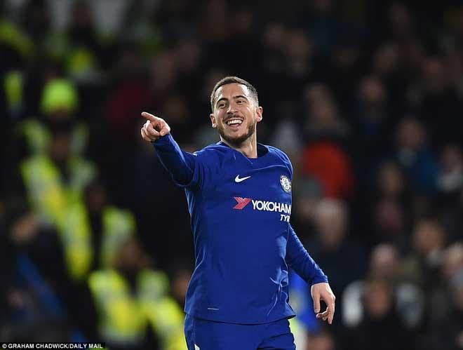 """Chelsea đại thắng: Hazard """"bung lụa"""", hăm dọa Barca 7"""