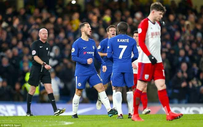 """Chelsea đại thắng: Hazard """"bung lụa"""", hăm dọa Barca 1"""