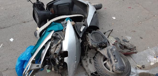 """""""Xe điên"""" gây tai nạn kinh hoàng trên đường Trần Phú chiều 28 Tết - 9"""