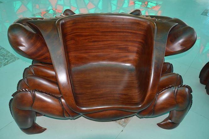 """Chiêm ngưỡng """"bộ salon cua"""" bằng gỗ nguyên khối độc nhất vô nhị - 6"""