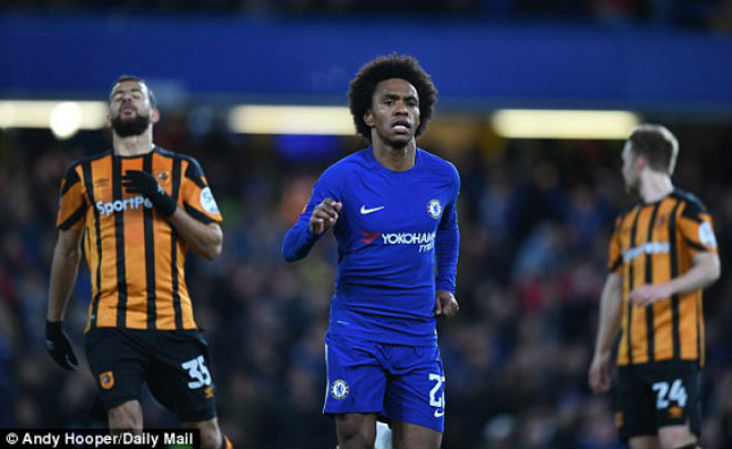 "Chelsea - Hull: Hiệp 1 đỉnh cao, chân ""gỗ"" hóa ""vàng"""