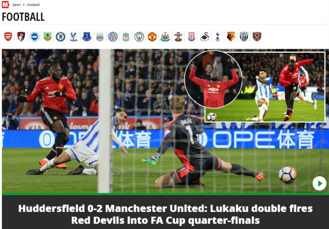 """Lukaku """"nổ"""", MU vào tứ kết FA Cup: Triệu fan ngây ngất, cảnh báo Sevilla 6"""