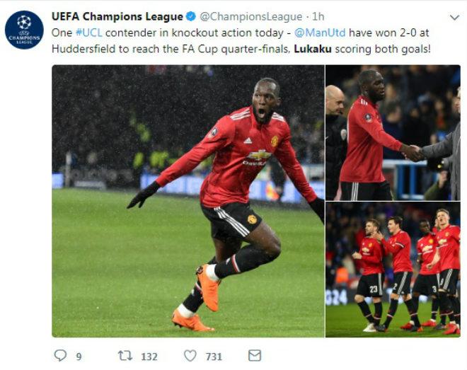 """Lukaku """"nổ"""", MU vào tứ kết FA Cup: Triệu fan ngây ngất, cảnh báo Sevilla 2"""