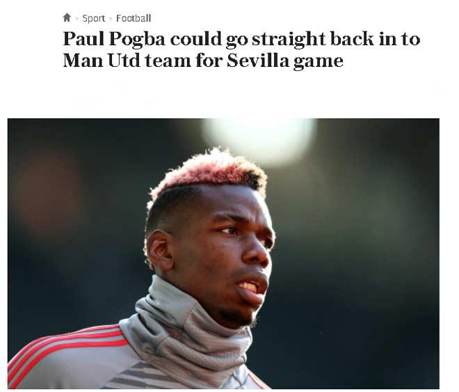 MU dễ mất 8 SAO đấu Sevilla: Nghi án Pogba dối Mourinho 3
