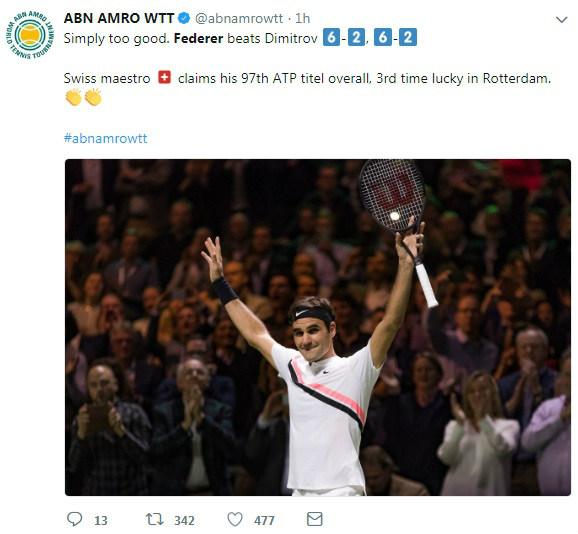 """Federer hạ Dimitrov: """"Thiên đường"""" thứ 97, triệu fan ngợi ca huyền thoại 3"""