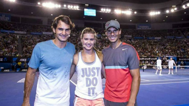 Tennis 24/7: Federer, Nadal được mỹ nhân đồng nghiệp gạ chụp ảnh nóng