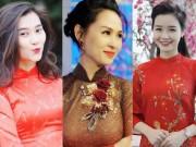 Bạn trẻ - Cuộc sống - Các nữ MC xinh đẹp nhất của VTV xuống phố ngày Tết với áo dài