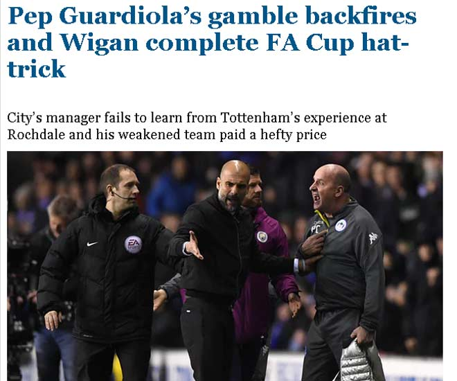 """Man City tan vỡ mộng ăn 4, báo Anh thừa dịp """"dìm hàng"""" 2"""