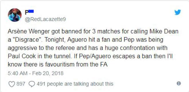 Man City thua sốc FA Cup: Aguero đánh CĐV, đối mặt án phạt nặng 7